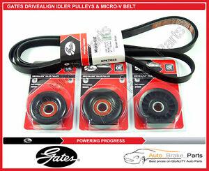Gates Micro-V Belt & DriveAlign Idler Pulleys for HOLDEN COMMODORE VY, 3.8Ltr V6