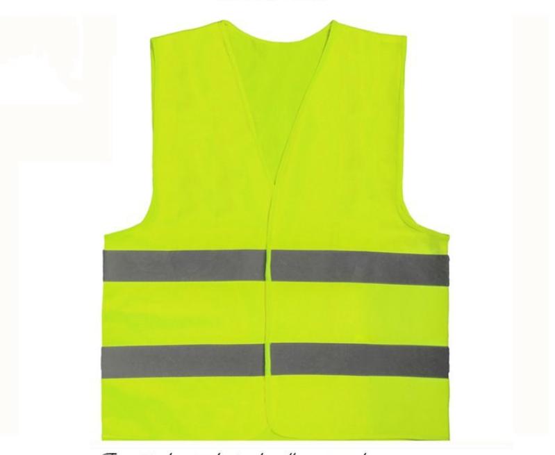 4x Warnweste Unfallweste Neon Gelb Sicherheitswarnweste Auto Reflektierend Neu