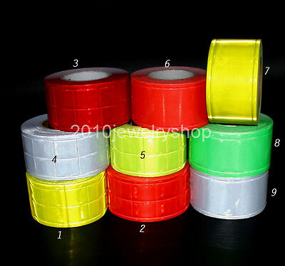 Gloss Pvc Reflective Tape Sew On Material Width 2 Choose Color Length 10meter