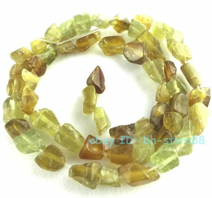 "Natural Garnet Grossular Baroque Nugget Gemstone Beads 15"" DIY Making Jewellery"