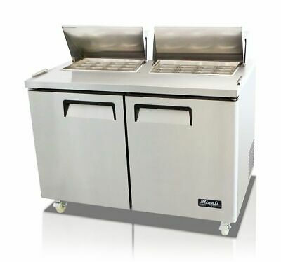 New Migali 48 Big-top Sandwich Prep Table Cooler C-sp48-bt Free Shipping