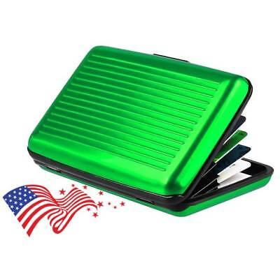 iLett Aluminum Wallet Green Resistant Block RFID protect Card Holder 6 pockets