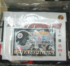Steelers 2005 AFC Champions Banner Flag London Ontario image 2