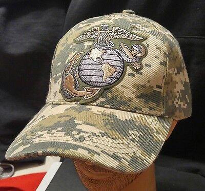 U.S.M.C Camoflauge Baseball Cap/Hat United States Marine Corps