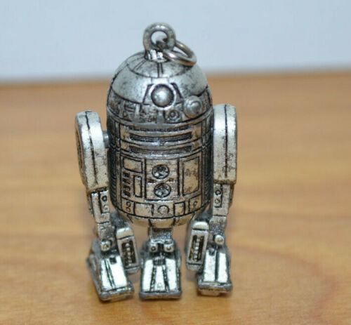 """Vintage Star Wars R2D2 Necklace Pendant Charm Pewter 1977 1.5"""" Tall Collectible"""