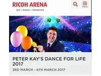 Peter Kay's Dance for Life Tickets for Coventrys Ricoh Arena (x 4)