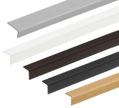 Cezar PVC Plastic Corner 90 Degree Angle Edge Protector Profiles (Large Variety)
