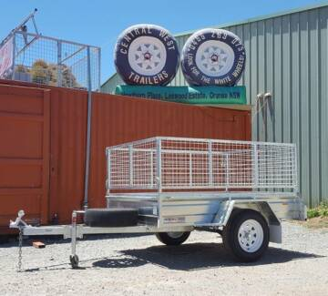 CWT GALVANISED SINGLE AXLE BOX TRAILERS + 2FT CAGE & REGO Orange Orange Area Preview