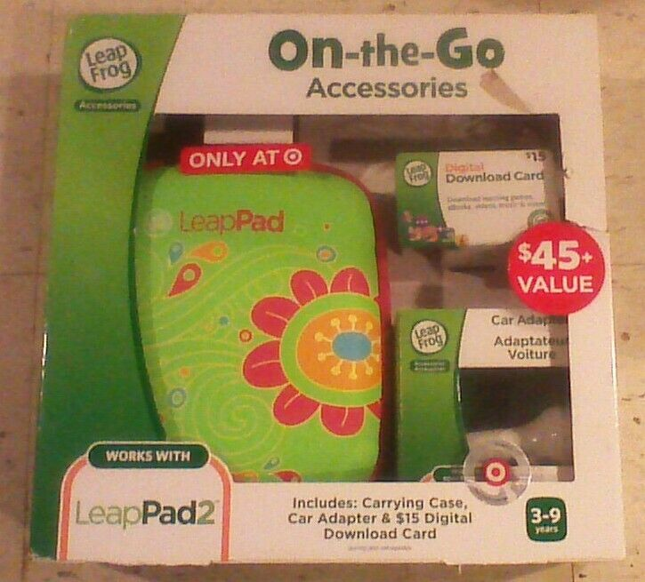 Leapfrog Leappad Accessories On-the-go Bundle. Flower Carryi