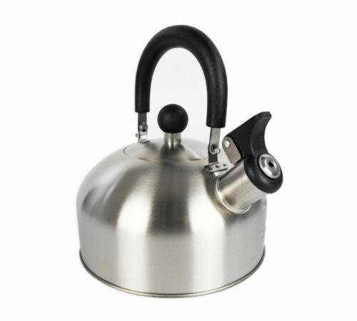 Mainstays 1.8-Liter Whistle Tea Kettle, Stainless Steel