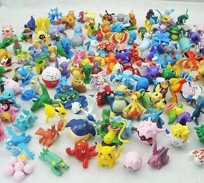 Pokemon Lot Of 48 Miniature PVC Figures 1-1.5 Inches Random Set US Seller