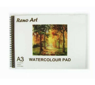 x 3 RENO ART WATERCOLOUR Sketchbook A3 280gsm 30pg Artist Drawing Paper Art Sraw