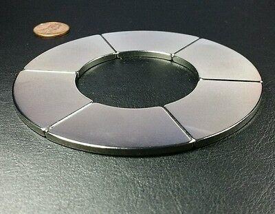 One Large Neodymium N52 Ring Magnet Strong Rare Earth 4 Healing Star Of David