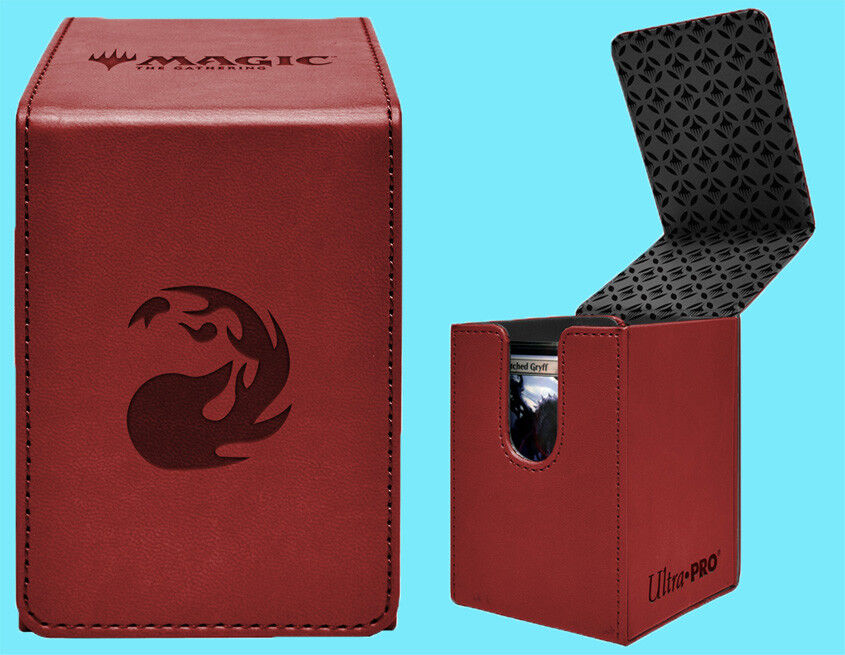 ULTRA PRO MTG MATTE RED ALCOVE MANA MOUNTAIN FLIP DECK BOX C