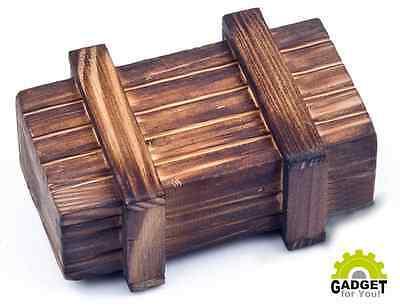Magische Box aus Echt-Holz Kiste Geheimfach Versteck Geocache Geocaching
