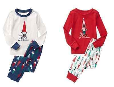 NWT Gymboree Christmas ELF Gnome Pajamas Gymmies Boys(White) Girls(Red)