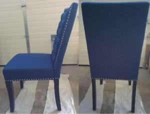 Picket House Eric Contemporary Polyester Dining Chair - Set of 2  Blue (New Other)