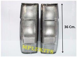 PAIR CLEAR LENS REAR TAIL LIGHT LAMP FITS NISSAN NAVARA D21 PICKUP (36 CM.)