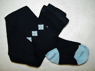 - Cotton Argyle Tights 2T 3T Baby Girl Navy Blue NEW 2-3 yrs