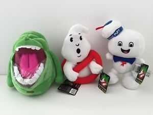 Ghostbusters Stay Puft Slimer Sign Electronic Set Soft Plush Toy SOUNDS NEW 8.5
