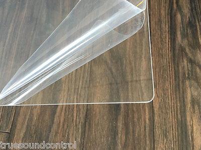 Clear Acrylic Plexiglass Sheet .08 X 24x48 Laser Polished Edgescorners 4pk