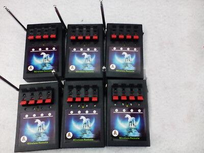 24 Cues fireworks firing system 6PCS 4CH wireless remote receiver box salvo fire