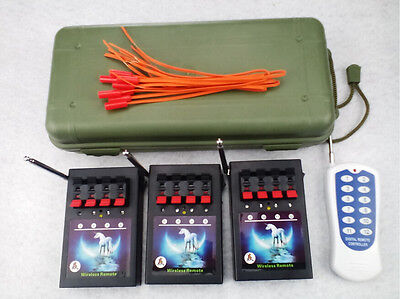 12 Cues smart switch fireworks firing system Wedding wireless remote copper wire