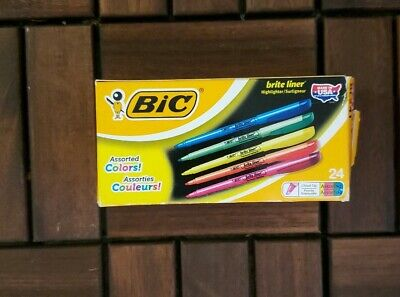 Brand New Bic Beite Liner Highlighter Yellow Chisel Tip 24 Pack