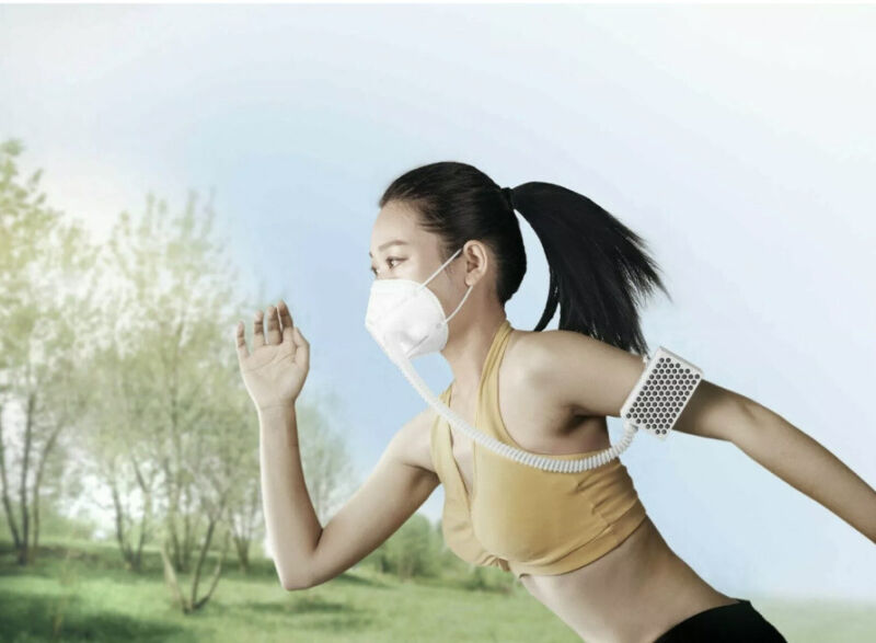 Breathe-freely BROAD Airpro Mask Powered Purifying Respirator