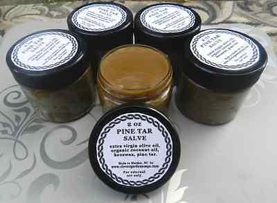 Pine Tar Salve 2 oz Handmade Beeswax Organic Coconut Oil Olive Oil Balm Ointment ()