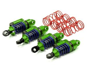 Integy Piggyback Shock Set T3460 Green 1/16 Traxxas E-revo Slash Rally Summit