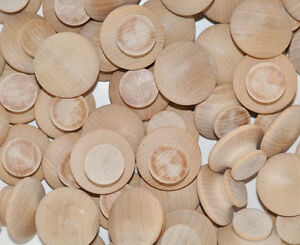 40 New Wooden Knobs Bulk Lot 1 1 2 Cabinet Drawer Hardware Pulls Wood C