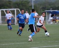 looking  for a female soccer player to join a Tuesday co-ed team