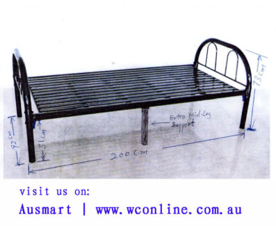 cheap bed: strong metal bed frame at discount price   Ausmart