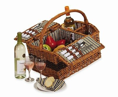 Picnic Plus PSB-272 Largo 2 Person Picnic Basket Willow NEW