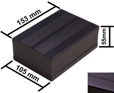 Black DIY Aluminum Project Box Enclosure Case Electronic 153x105x55mm_Medium