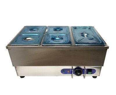 New 5-pan 110v Counter Top Food Warmer Bath Warmer 4-14pans1-12pan