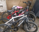 £40 for all 4 BMX bikes, JOBLOT, some need minor work and some work.