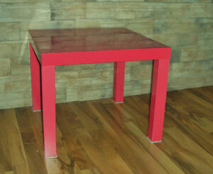 """Pink """"Lack"""" table from Ikea"""