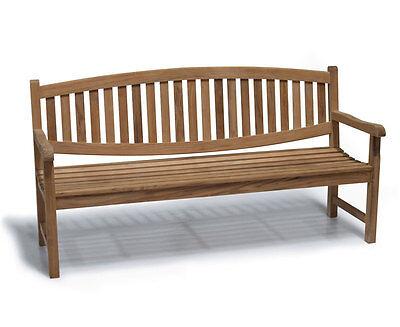 Kennington Wooden 4 Seater Garden Patio Park Bench 1.8m - Sustainable Teak