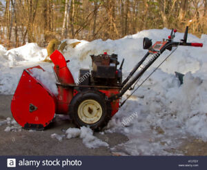 looking for snowblower that is not running