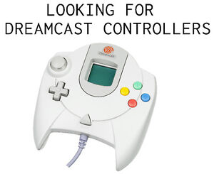 Looking for Sega Dreamcast controllers (one or many).