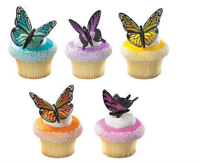 Butterfly Cupcake Toppers (Butterfly Colorful Butterflies cupcake picks (12) favor cake topper 1)