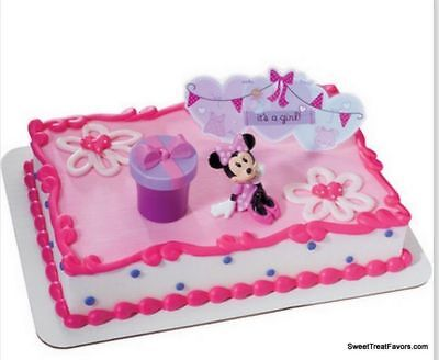 Minnie Mouse Cake Topper Decoration Supplies Birthday It's a Girl  Baby Shower - Minnie Mouse Cake Decorating Supplies