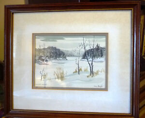 Two Beautiful Watercolor Farming Landscapes by Des Major 1985 Stratford Kitchener Area image 5