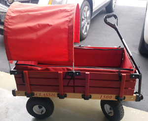 Millside classic 1500 red wagon with shade top