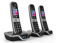 Brand New - BT 8600 Advanced Call Blocker Cordless Home Phone with Answer Machine -Tripple Pack