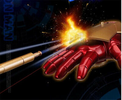 Avengers 4 Iron Man Gloves Cosplay Equipment Props Sound Effect Emitting (Iron Man Equipment)