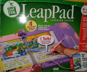 Leap Pad Learning System by Leap Frog with 5 Books and cartidges