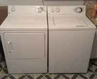 GE. Washer and Dryer